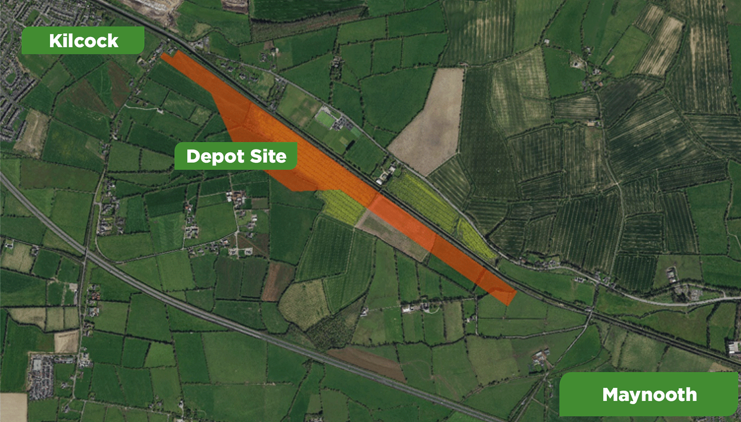 Proposed Depot location in Maynooth West