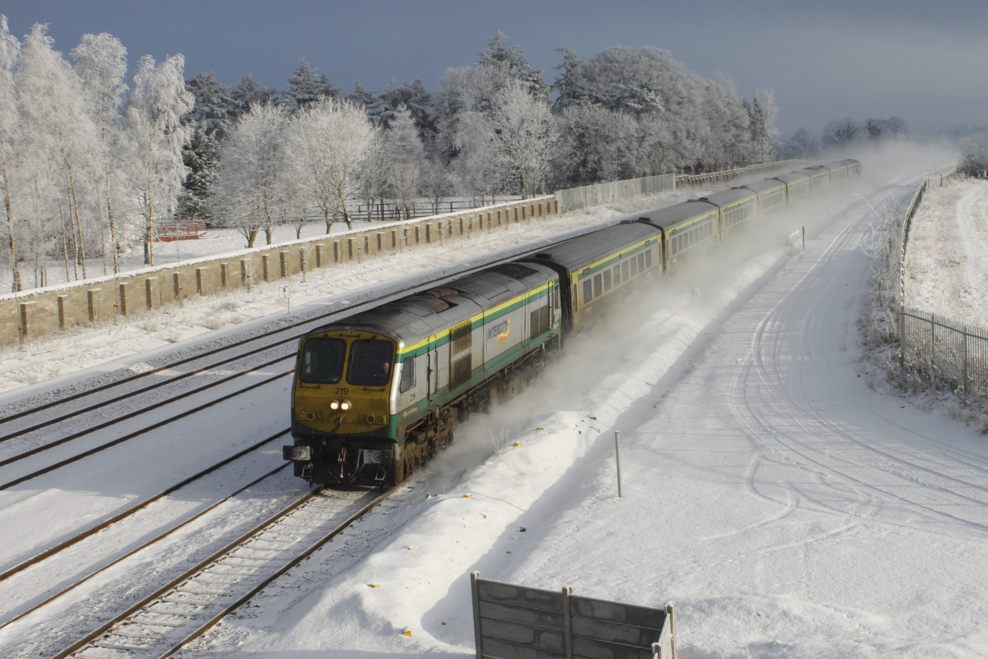 Cork train in snow