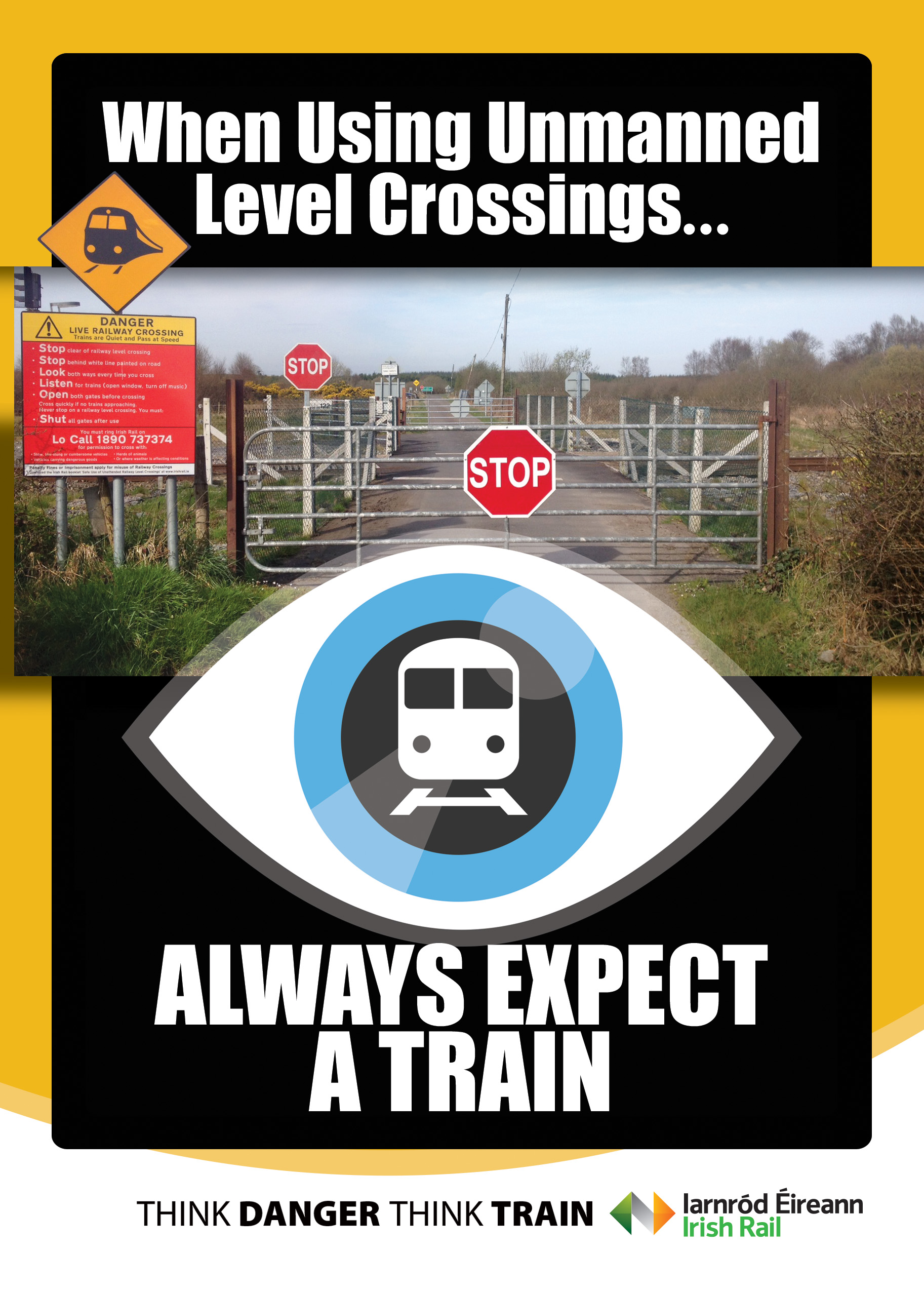 level crossing poster
