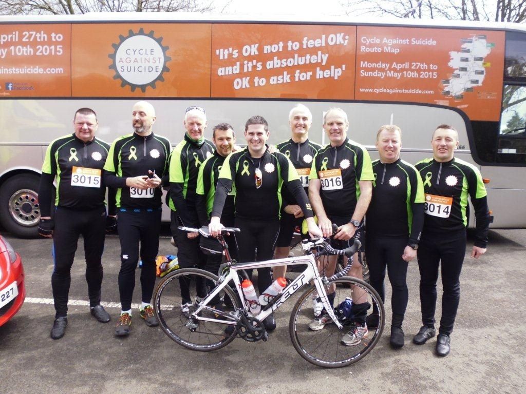 Our Dundalk team taking part in Cycle against Suicide: Kevin Black, Brendan Connolly, Dessie Callan, George Martin, Ray Breen, Paul Callan, & Anthony Monaghan